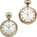 Timepieces:Pocket (pre 1900) , Two Ball B of RT Official Standard 17 Jewels. ... (Total: 2 Items)