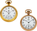 Timepieces:Pocket (post 1900), Two Ball Official Standard's, ORC & B of RT, 16 Sizes. ...(Total: 2 Items)