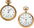 Timepieces:Pocket (post 1900), Ball 19 Jewel B of RT, 17 Jewel B of LF 16 Size Watches. ... (Total: 2 Items)