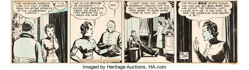 Milton Caniff Terry and the Pirates Daily Comic Strip Dragon