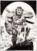 Original Comic Art:Illustrations, Simon Bisley (as Biz) Groo Trading Card #IG-6 Chase CardIllustration Original Art (Wildstor...