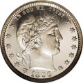 Proof Barber Quarters: , 1896 25C PR68 Ultra Cameo NGC. Magnificent cameo frost endows the devices and legends. The strike is exceptionally sharp, e...