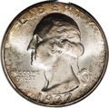 Washington Quarters: , 1937-S 25C MS67 PCGS. DDO-001. IN GOD WE TRUST is lightly diedoubled, most prominently on the leftmost letters. This low m...