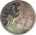 Patterns: , 1873 T$1 Trade Dollar, Judd-1315, Pollock-1458, R.4, PR62 PCGS.Bailly's Liberty design is seated left on the obverse with ...