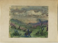 Texas:Early Texas Art - Impressionists, JOSEPHINE MAHAFFEY (American, 1903-1982). Untitled landscape. Mixedmedia on paper, mounted on cardboard. 5-7/8in. x 7-7/8in...