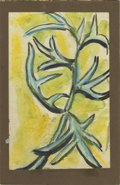 Texas:Early Texas Art - Impressionists, JOSEPHINE MAHAFFEY (American, 1903-1982). Untitled floral. Mixedmedia on paper, mounted on mat board. 9in. x 6in.. ...