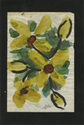 Texas:Early Texas Art - Impressionists, JOSEPHINE MAHAFFEY (American, 1903-1982). Untitled floral.Watercolor on paper, mounted on mat board. Signed to bottomcente...