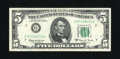 Error Notes:Ink Smears, Fr. 1968-G $5 1963A Federal Reserve Note. Very Fine.. A green inksmear is found on the back of this $5....