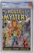 """Golden Age (1938-1955):Horror, House of Mystery #7 Davis Crippen (""""D"""" Copy) pedigree (DC, 1952)CGC FN+ 6.5 Cream to off-white pages...."""