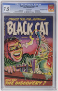 "Golden Age (1938-1955):Horror, Black Cat Mystery #46 Davis Crippen (""D"" Copy) pedigree (Harvey,1953) CGC VF- 7.5 Off-white pages...."