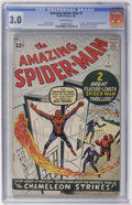 Silver Age (1956-1969):Superhero, The Amazing Spider-Man #1 (Marvel, 1963) CGC GD/VG 3.0 Off-white pages....