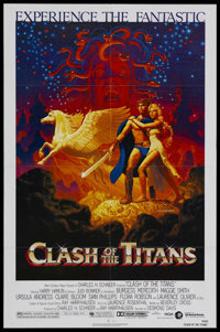 "Clash of the Titans (MGM, 1981). One Sheet (27"" X 41""). Fantasy. Starring Laurence Olivier, Harry Hamlin, Clai..."