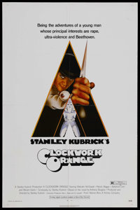 "A Clockwork Orange (Warner Brothers, 1971). One Sheet (27"" X 41"") R-Rated. Starring Malcolm McDowell, Patrick..."