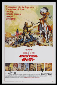 "Custer of the West (Cinerama Releasing, 1967). Cinerama One Sheet (27"" X 41"") Style B. Western. Robert Shaw st..."