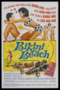 """Movie Posters:Comedy, Bikini Beach (AIP, 1964). One Sheet (27"""" X 41""""). Comedy. StarringFrankie Avalon, Annette Funicello, Martha Hyer and Don Ric..."""