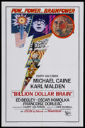 "Movie Posters:Adventure, Billion Dollar Brain (United Artists, 1967). One Sheet (27"" X 41""). Spy Film. Starring Michael Caine, Karl Malden, Ed Begley..."