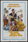 "Movie Posters:James Bond, The Man With the Golden Gun (United Artists, 1974). One Sheet (27""X 41""). James Bond Adventure. Starring Roger Moore, Chris..."