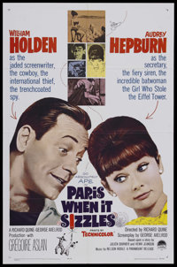 "Paris When it Sizzles (Paramount, 1964). One Sheet (27"" X 41""). Comedy. Starring William Holden and Audrey Hep..."
