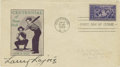 Autographs:Others, 1939 Nap Lajoie Signed First Day Cover. Exceptional snapshot of baseball history is afforded here with the offered First Da...