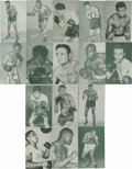 Boxing Cards:General, 1940's-1950's Boxing Exhibit Cards Group Lot of 32. Great group ofvintage boxing exhibit cards in fine condition. Highligh...