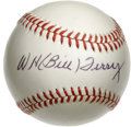 Autographs:Baseballs, Bill Terry Single Signed Baseball. Pristine white ONL (Giamatti)baseball seen here has been adorned with a great sweet spo...