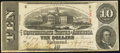 Confederate Notes:1863 Issues, T59 $10 1863 PF-1 Cr. 445A Fine-Very Fine.. ...