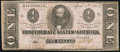Confederate Notes:1863 Issues, T62 $1 1863 PF-1 Cr. 474 Fine.. ...