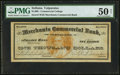 Obsoletes By State:Indiana, Valparaiso, IN- Commercial College at Merchants Commercial Bank of Cleveland, O. College Currency $1000 ND PMG About Uncir...