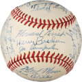 Baseball Collectibles:Balls, 1946 St. Louis Cardinals Team Signed Baseball from The Enos Slaughter Collection. ...