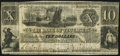 Obsoletes By State:Michigan, Tecumseh, MI- Bank of Tecumseh Spurious $10 Aug. 10, 1847 Fine.. ...