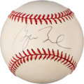 Baseball Collectibles:Balls, 2001 President George W. Bush Single Signed Baseball from The Enos Slaughter Collection. ...
