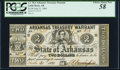 Obsoletes By State:Arkansas, (Little Rock), AR- Arkansas Treasury Warrant $2 July 31, 1863 Cr. 36A PCGS Choice About New 58.. ...
