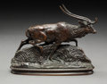 Sculpture, Antoine-Louis Barye (French, 1796-1875). Cerf de Java. Bronze with brown patina. 5 inches (12.7 cm). Inscribed on base: ...