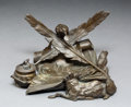 Sculpture, Jules Moigniez (French, 1835-1894). Fables de la Fontaine, inkstand. Bronze with brown patina. 4-3/4 inches (12.1 cm) hi...