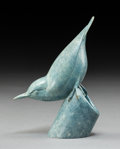 Sculpture, Geoffrey Dashwood (British, b. 1947). Nuthatch 1. Bronze with blue patina. 5-1/4 inches (13.3 cm) high. Ed. 15. Inscribe...