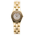 Estate Jewelry:Watches, Baume & Mercier Lady's Diamond, Mother-of-Pearl, Gold Linea Watch. ...