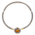 Estate Jewelry:Necklaces, Citrine, Iolite, Gold, Sterling Silver Necklace, David Yurman. ...