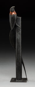Sculpture, Geoffrey Dashwood (British, b. 1947). Paradise Whydah. Bronze with black and red patina. 13-1/8 inches (33.3 cm) high. E...