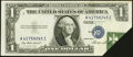 Error Notes:Foldovers, Foldover Error Fr. 1614 $1 1935E Silver Certificate. AboutUncirculated.. ...