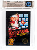 Video Games:Nintendo, Super Mario Bros. (NES, Nintendo 1985) Wata 8.0 CIB (Complete inBox)....