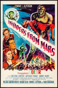 """Movie Posters:Science Fiction, Invaders from Mars (20th Century Fox, 1955). Folded, Fine/Very Fine. One Sheet (27"""" X 41""""). Science Fiction.. ..."""
