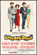 "Movie Posters:Musical, Guys and Dolls (MGM, 1955). Folded, Fine/Very Fine. One Sheet (28""X 42""). Musical.. ..."