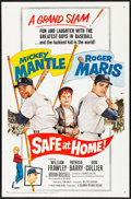 "Movie Posters:Sports, Safe at Home (Columbia, 1962) Folded, Very Fine-. One Sheet (27"" X 41""). Sports...."