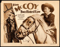 "Movie Posters:Western, Two Fisted Law (Columbia, 1932) Folded, Fine+. Half Sheet (22"" X 28""). Western...."