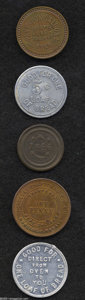Coins of Hawaii: , Hawaiian Tokens.... (5 tokens)