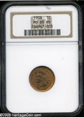 Indian Cents: , 1908 1C MS65 Red NGC. ...