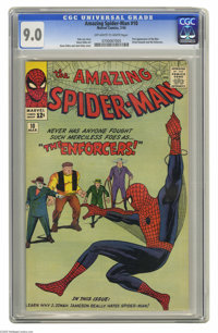The Amazing Spider-Man #10 (Marvel, 1964) CGC. First appearance of Big Man and the Enforcers. Steve Ditko cover and art...