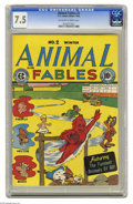 Golden Age (1938-1955):Humor, Animal Fables #2 (EC, 1946) CGC VF- 7.5 Off-white to white pages. Aesop Fables begin. Overstreet 2004 VF 8.0 value = $170. C...