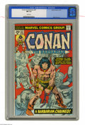 Bronze Age (1970-1979):Miscellaneous, Conan the Barbarian #57 (Marvel, 1975) CGC NM 9.4 White pages. GilKane cover. Mike Ploog art. Partially adapted from the Ro...