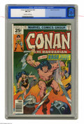 Bronze Age (1970-1979):Miscellaneous, Conan the Barbarian #65 (Marvel, 1976) CGC NM 9.4 Off-white towhite pages. John Buscema cover and art. Overstreet 2004 NM- ...